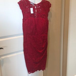 Gorgeous red lace dress